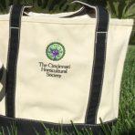 Cincinnati Horticultural Society Logo Tote – White