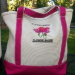 Flower Show Logo Tote – Pink Handles